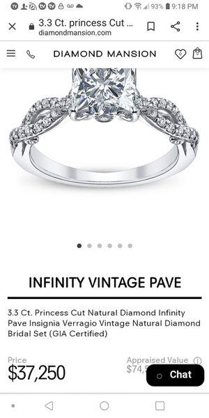 Princess cut diamond wedding ring real 3.5 for Sale in Modesto, CA