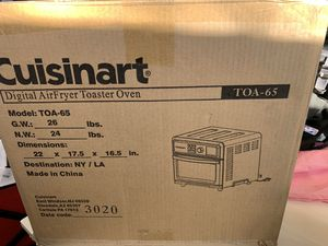 Brand new Cuisinart digital airfryer toaster oven TOA-65 for Sale in Los Alamitos, CA