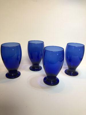 Set Of 4 Cristar Cobalt Blue Glasse for Sale in San Angelo, TX
