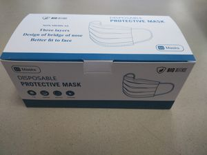 4 boxes of face masks 3ply for Sale in Fullerton, CA