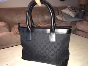 Authentic Gucci black tote bag in like new condition for Sale in Fairfax, VA