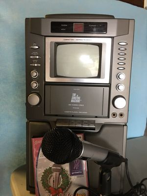 Karaoke Machine with microphone stand and DVD for Sale in Sarasota, FL