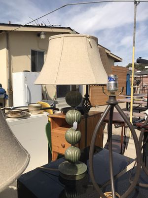 Set of green lamps for Sale in Carson, CA
