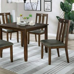 WALNUT / GRAY 5 PIECE KITCHEN DINING TABLE SET for Sale in Fontana, CA
