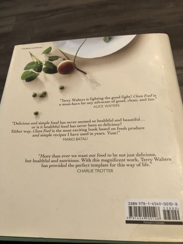 NEW - never used. Terry Walters Clean Food Cookbook