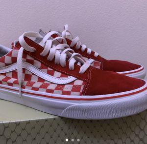 Red checkerboard vans for Sale in Riverside, CA