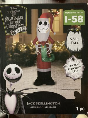 Jack skellington inflatable nightmare before Xmas Christmas for Sale in Torrance, CA