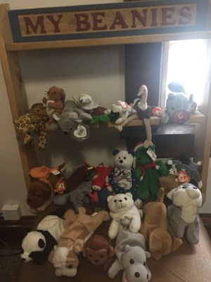 Beanie babies with shelf for Sale in Cleveland, OH