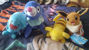 Pokemon plushies with tags brand new tomy for Sale in Ontario, CA