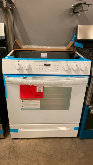 NEW! Frigidaire White Slide In Electric Range Stove Oven 1 Year Manufacturer Warranty for Sale in Gilbert, AZ