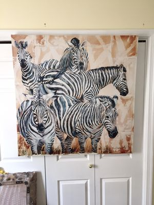 Beautiful Large Canvas Art of Zebras! for Sale in Chantilly, VA