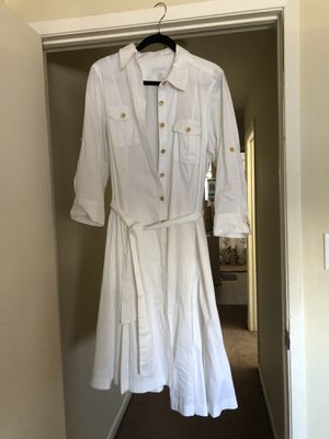 White button up collared dress size 16 for Sale in Martinez, CA