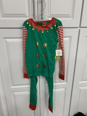 Big Kids Christmas Elf PJ'S Brand New with Tags Size 12 for Sale in Tacoma, WA