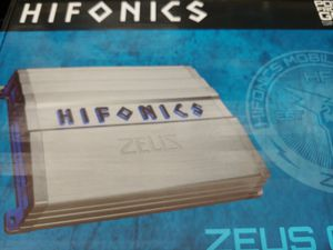 Car amplifier : HIFONICS 1200 watts monoblock 1 ohm stable built in crossover 60 ×1 fuse & bass control ( brand new ) for Sale in Bell Gardens, CA