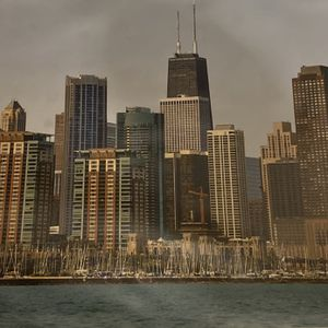 "14"" X 11"" Photo Of Chicago From Lake Michigan for Sale in Glen Ellyn, IL"