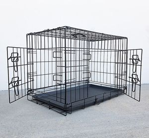 """(NEW) $35 Folding 30"""" Dog Cage 2-Door Folding Pet Crate Kennel w/ Tray 30""""x18""""x20"""" for Sale in South El Monte, CA"""