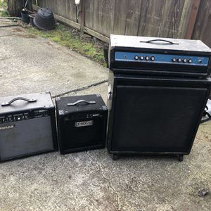 PENDING PICK UP**FREE** Guitar Speakers And Amp for Sale in Parkland, WA