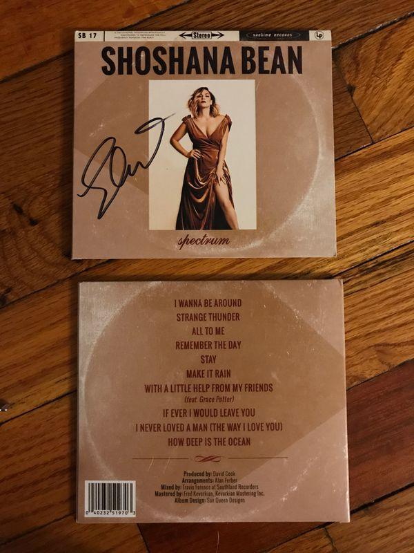 Signed CDs by Shoshana Bean