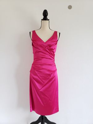 Suzi Chen hot pink ruched dress size 4 for Sale in Dallas, TX