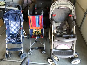 Love seat, booster seat, car seats and strollers for Sale in Guadalupe, AZ