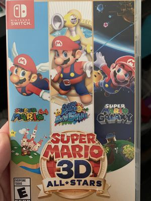 Super Mario 3D all stars for the switch for Sale in Washington, DC