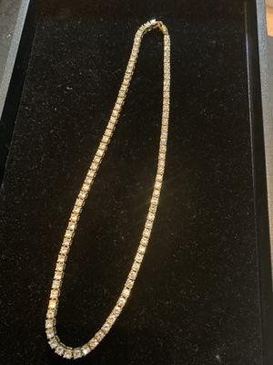 Tennis diamond gold chain for Sale in Seattle, WA