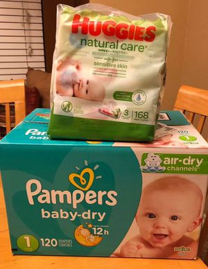Diapers and wipes bundle for sale for Sale in Riverside, CA