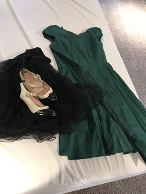 Cocktail Dress w petticoat & shoes for Sale in Glenwood, IA