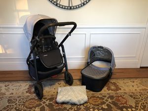 Gray UPPAbaby stroller , bassinet and ganoosh for Sale in Ridgefield, CT