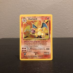 Charizard Holo Original Base Set 4/102 Vintage Pokemon Card for Sale in Los Angeles, CA