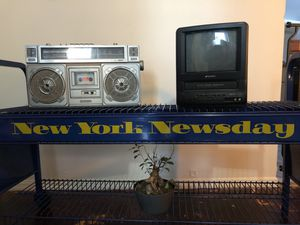 Antique Vintage New York Newsday Newspaper TV Bar Shelf Cart for Sale in New York, NY