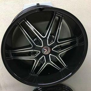 """Brand New 24"""" LA18 6x135 Black Machine Wheels for Sale in Miami, FL"""