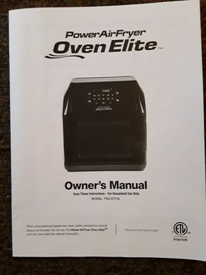 Air Fryer/Rotisserie Oven for Sale in Traverse City, MI