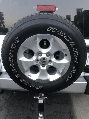 2016 Jeep Wrangler OEM Tires and Rims - Not the Jeep itself. for Sale in Cypress, CA