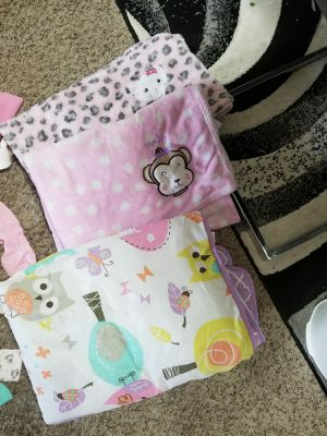 Two blankets and a crib comforter for Sale in Carol Stream, IL