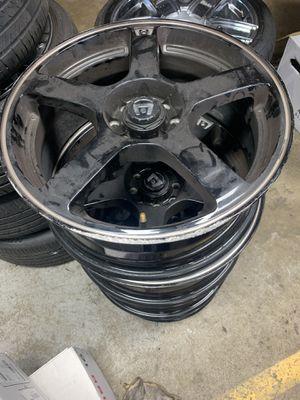 Nice 5 lugs black wheels . for Sale in Virginia Beach, VA