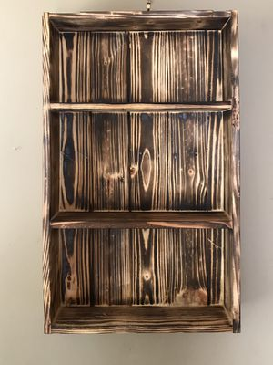 Rustic Burn Wall Storage Shelf for Sale in Wichita, KS