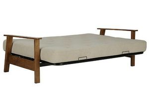 DHP bergen wood arm futon with 6'' coil mattress for Sale in Pompano Beach, FL