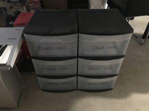 2 piece 2 feet Tall Plastic Drawer -used for Sale in San Marcos, CA