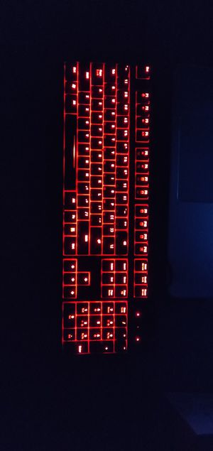 Fanatic gear RUSH red LED keyboard with cherry MX Blue switches for Sale in Thonotosassa, FL