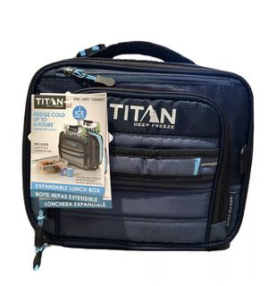 NEW Arctic Zone Titan Deep Freeze Lunch Bag Blue + Container Set + Ice Packs for Sale in Orland Hills, IL