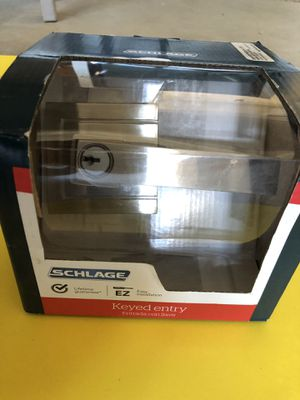 Schlage Door Handle with Lock and Key New in Box for Sale in Lathrop, CA