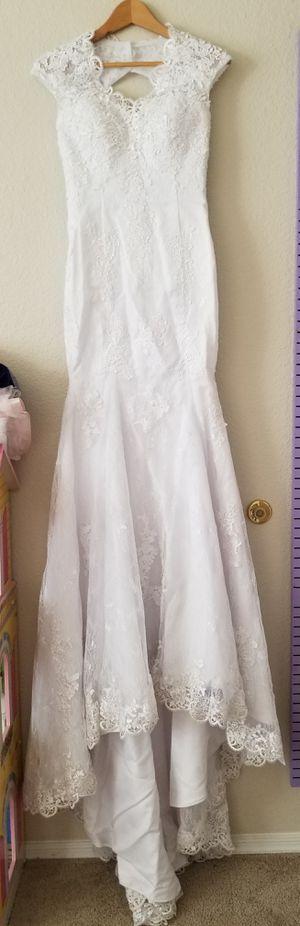 Wedding dress mermaid fit SZ 2 for Sale in Sun Lakes, AZ