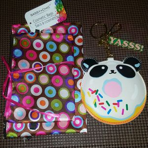 Yasss! Keychain Portable Charger With Cord, Sassy Chic 2 Cosmetic Bags. All Brand new. See Photos. for Sale in Meriden, CT