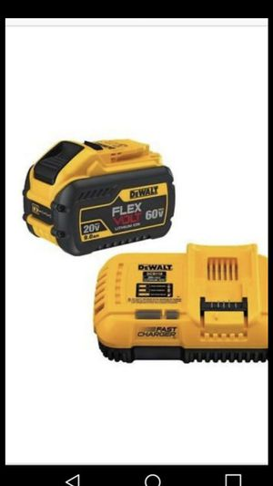Dewalt flexvolts 9.0 Ah battery and charger for Sale in San Jose, CA
