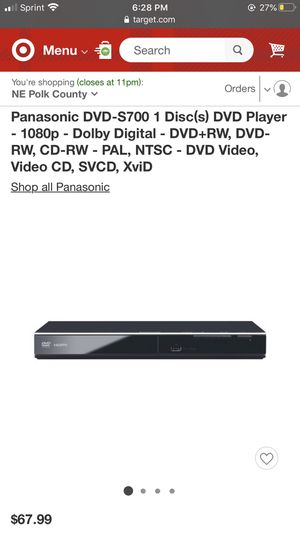 panasonic dvd player for Sale in Haines City, FL