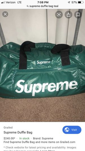 SUPREME DUFFLE BAG TEAL for Sale in Miami, FL