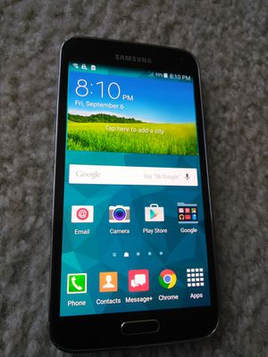 SAMSUNG GALAXY S5 UNLOCKED FOR ANY CARRIER WORKING GREAT for Sale in Los Angeles, CA