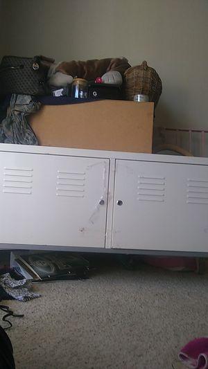 METAL White locker replica storage desk for Sale in Santa Clarita, CA