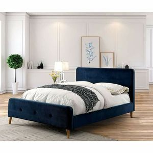 NAVY BLUE QUEEN OR FULL SIZE BED for Sale in San Diego, CA